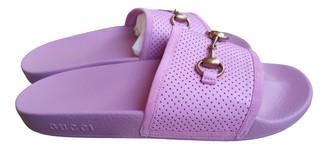 Gucci Purple Rubber Sandals