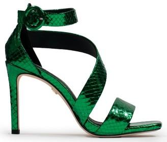Lola Cruz Alford Green Sandals