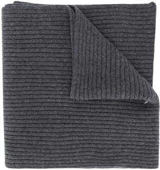 Maison Margiela Stitch Detailed Rib-Knit Scarf