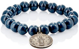 Miracle Icons Men's Beaded Charm Bracelet-BLUE
