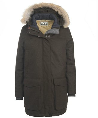 Woolrich White Collection Women's Wool Face Patrol Down Parka