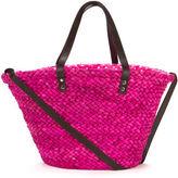 Condura NEW Fabiana Fuchsia Straw Beach Bag
