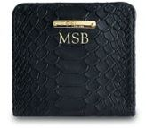 GiGi New York Personalized Mini Python-Embossed Leather Bi-Fold Wallet