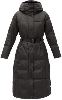 Fusalp Odette Belted Hooded Quilted Down Coat - Dark Green