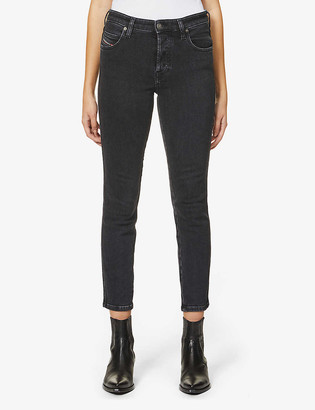 Diesel Babhila slim-fit mid-rise cotton-blend denim jeans