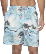 Croft & Barrow Men's Tropical Microfiber Swim Trunks