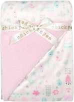 Cutie Pie Baby Pink Mink Sherpa-Backed Stroller Blanket