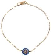 EYE M by Ileana Makri Blue Enamel Evil Eye Bracelet with Diamonds - Yellow Gold