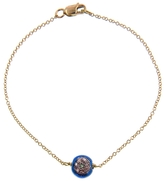 Ileana Makri IaM by Blue Enamel Evil Eye Bracelet with Diamonds - Yellow Gold