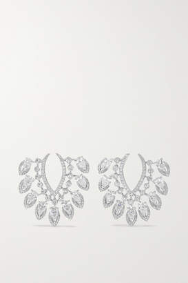 Messika Desert Bloom 18-karat White Gold Diamond Earrings