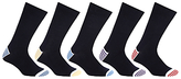John Lewis Heel & Toe Stripe Socks, Pack Of 5, Multi