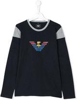 Armani Junior long-sleeved logo T-shirt