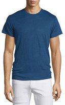 IRO Jaoui Short-Sleeve Linen T-Shirt, Industrial Blue