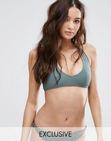 South Beach Khaki Strappy Bikini Top