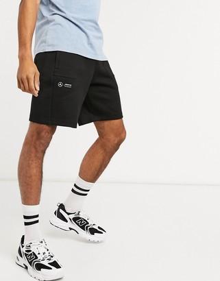 Puma Mercedes sweat shorts in black