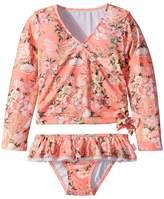 Seafolly Forget Me Not Ballet Rashie Set Girl's Swimwear Sets
