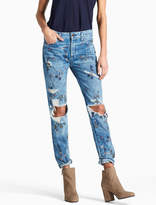 Lucky Brand Sienna Mid Rise Slim Boyfriend Jean With Embroidery
