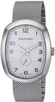Philip Stein Teslar Men's 'Modern' Swiss Quartz Stainless Steel Casual Watch, Color:Silver-Toned (Model: 72-FWH-MSS)
