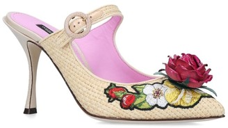 Dolce & Gabbana Embroidered Lori Mules 90