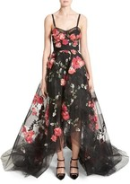 Marchesa Women's Embellished Tulle Gown