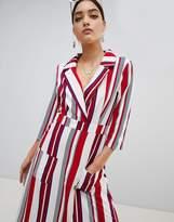 PrettyLittleThing Striped Maxi Shirt Dress