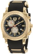 Brillier Men's 01.2.2.1.11.5 Chronograph Method Air Gold-Tone Black Rubber Watch