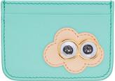 Sophie Hulme SSENSE Exclusive Blue Cloud Rosebery Card Holder