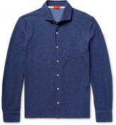 Isaia Mélange Cotton-Piqué Shirt