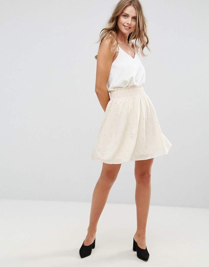 Minimum Pleated Print Skirt