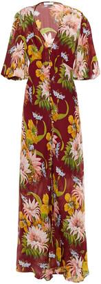 Olivia von Halle Delphine Floral-print Silk-georgette Maxi Dress