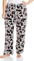 Disney Women's Ladies Plush Pants Mickey Plus