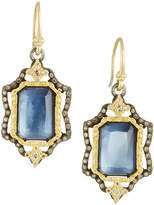 Armenta Emerald-Cut Triplet Drop Earrings w/ 18k Gold