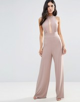 Love High Neck Split Front Jumpsuit