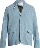 BY WALID Edward single-breasted antique-linen jacket