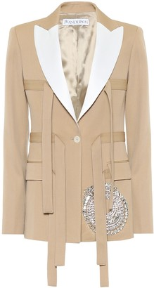 J.W.Anderson Embellished virgin wool jacket