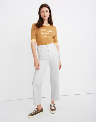 Madewell Slim Wide-Leg Jeans in Tile White