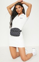 PrettyLittleThing Apparelt White Embroidered Collar Detail Bodycon Dress