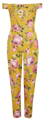 Dorothy Perkins Womens Girls On Film Multi Colour Floral Print Bardot Jumpsuit