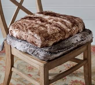 Pottery Barn PB Classic Faux Fur Dining Chair Cushion