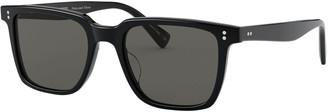 Oliver Peoples Men's Lachman Square Polarized Acetate Sunglasses