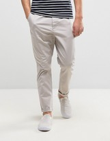 Asos Tapered Chinos In Gray