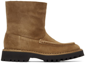 Kenzo Tan Suede K-Mount Ankle Boots