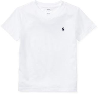 Ralph Lauren Kids Short-Sleeve Jersey V-Neck T-Shirt, Size 4-7