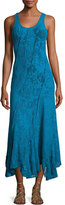 Fuzzi Sleeveless Stretch-Lace Tank Dress, Turquoise