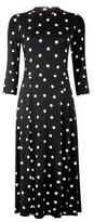 Dorothy Perkins Womens Black Spot Print Split Jersey Midi Dress, Black