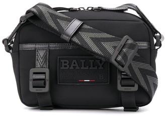 Bally Buckled Logo Patch Messenger Bag