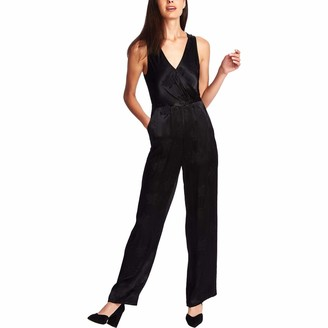 1 STATE Womens Black Sleeveless V Neck Evening Jumpsuit Size: 8
