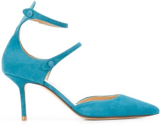 Francesco Russo Double Strap Pointed Toe Pumps