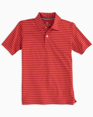 Southern Tide Boys First Mate Performance Striped Polo Shirt