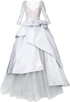 Mikael D. embroidered top ball gown